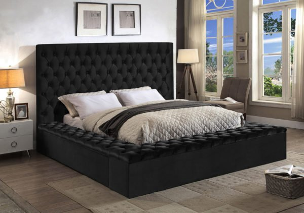 Bliss Black King Size Bed bliss Meridian